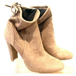 Tan suede ankle boot